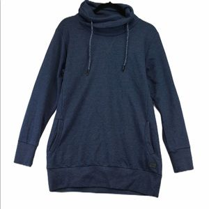 Ichi L blue long cowl neck sweater